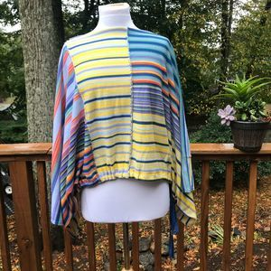 FP Vibrant Striped WIDE Arm Sweater-XS- NWOT